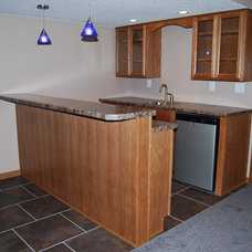 Traditional Basement by Todd Construction