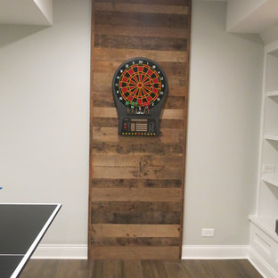 Wheaton Basement with Reading Nook and Wet Bar