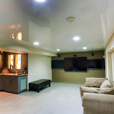 Modern Basement by Innovative Coverings