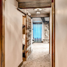 Rustic Basement by Old Montana Building Company