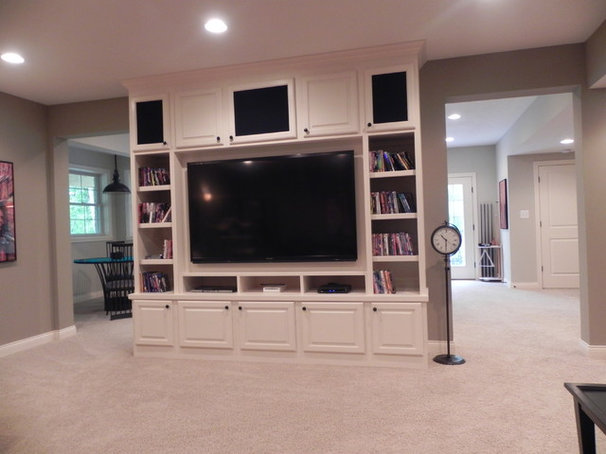 Modern Basement by The Affordable Companies