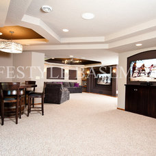 Contemporary Basement by Lifestyle Basements Kitchens