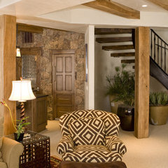 eclectic basement by Katy Allen, Nella Designs