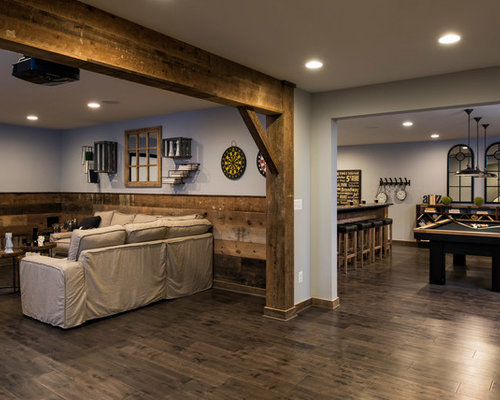 Farmhouse basement design ideas pictures remodel decor for Farmhouse basement