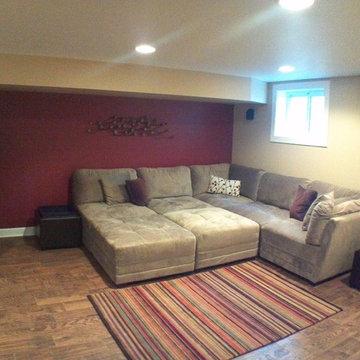 Wilmette Basement Rec Room