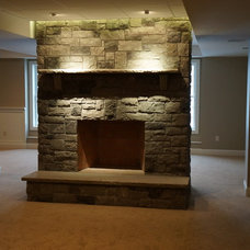 Traditional Basement by MacKinnon Construction