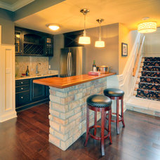 Traditional Basement by Liston Construction Company, Inc.