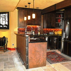 Traditional Basement by G.Elizabeth Designs