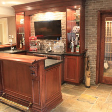Traditional Basement by Galle Construction Inc