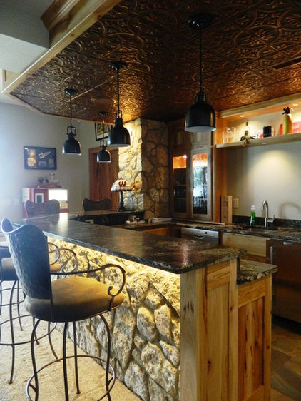 Rustic Basement by Laurie Driscoll Interiors