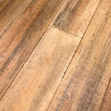 Wood concrete overlay