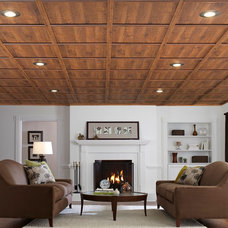 Traditional Basement by WoodTrac