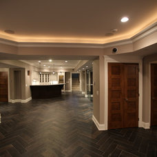 Contemporary Basement by MFM Design & Construction llc
