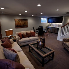 contemporary basement by Orfield Remodeling, Inc