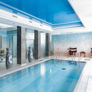 Пример оригинального дизайна: огромный бассейн в современном стиле