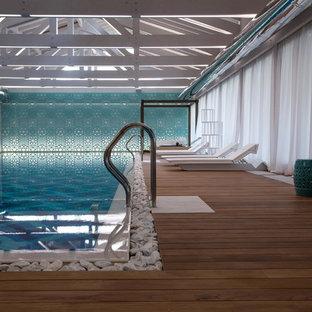 Новый формат декора квартиры: прямоугольный бассейн в доме в современном стиле