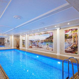 Новый формат декора квартиры: прямоугольный бассейн в доме в классическом стиле