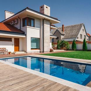 Стильный дизайн: прямоугольный бассейн в современном стиле - последний тренд