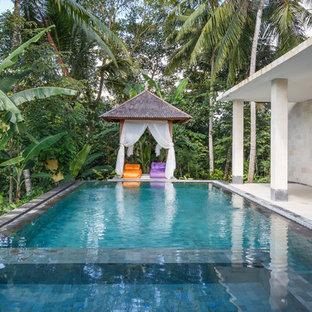 Удачное сочетание для дизайна помещения: прямоугольный бассейн в морском стиле - самое интересное для вас