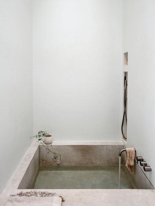Poured Concrete Bathtub Ideas Photos Houzz