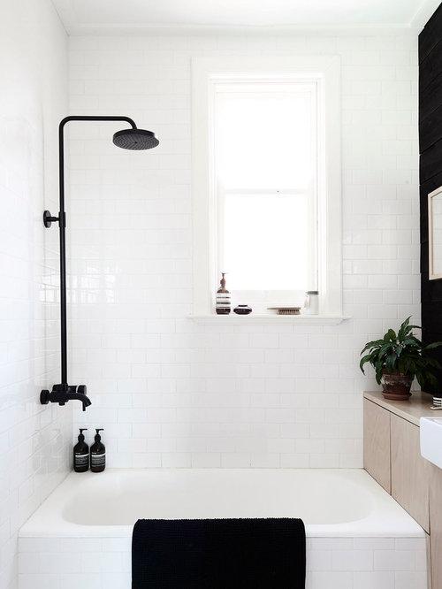 skandinavische badezimmer mit aufsatzwaschbecken ideen. Black Bedroom Furniture Sets. Home Design Ideas