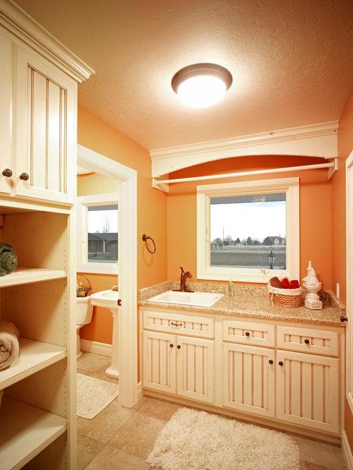 Salt Lake City Bathroom With Orange Walls Ideas Designs Pictures