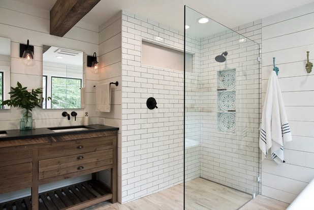 Country Bathroom by Cabinet Designers, Inc