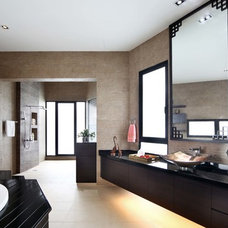Asian Bathroom by The Interior Place (S) Pte Ltd