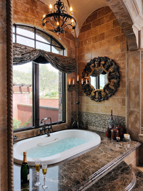 Granite around tub houzz - Change your old bathroom to traditional bathrooms ...
