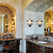 Mediterranean Bathroom by Elevation Architectural Studios