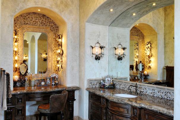 Mediterranean Bathroom by Elevation Architectural Studios
