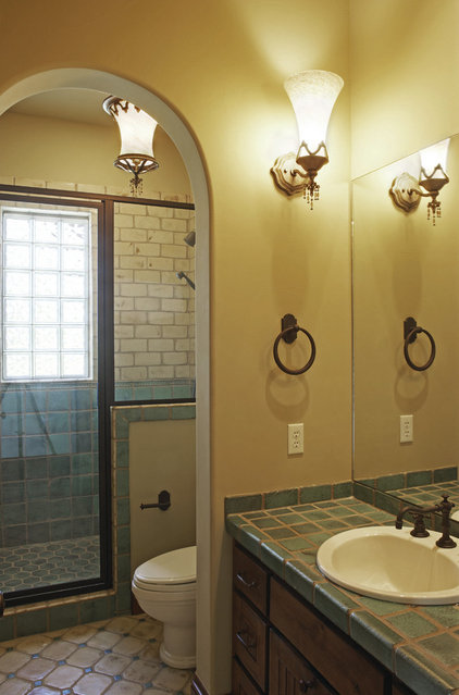 Mediterranean Bathroom by Vanguard Studio Inc.