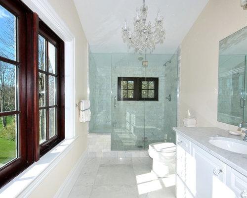 Long narrow bathroom home design ideas pictures remodel - Narrow shower room design ...