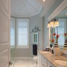 Tropical Bathroom by Kukk Architecture & Design P.A.