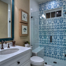 Eclectic Bathroom by Spinnaker Development