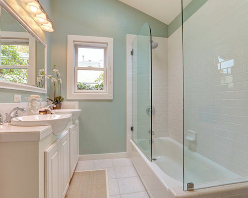 shabby-chic style bathroom design ideas, remodels & photos with