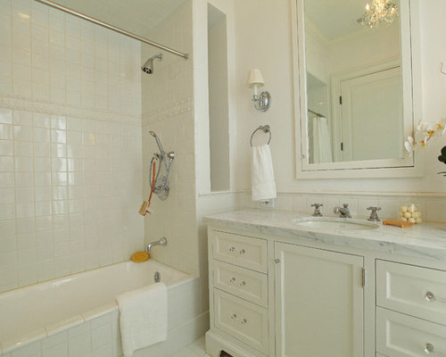 White Square Tile Bathroom white square tile | houzz