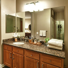 Transitional Bathroom by The Boutique Real Estate Group