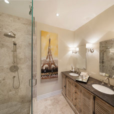 Transitional Bathroom by Ruby Photography Studio