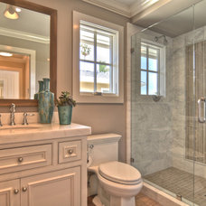 transitional bathroom by Spinnaker Development