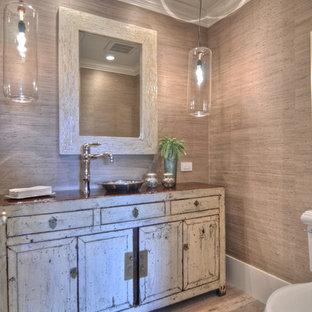 Salle de bain romantique avec une vasque : Photos et idées déco de ...