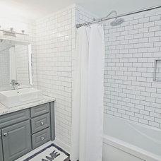 Industrial Bathroom by Lindsay McCormick Design