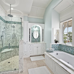 eclectic bathroom by Borges Brooks Builders