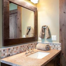 Rustic Bathroom by Jaffa Group Design Build