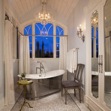 Transitional Bathroom by Magleby Construction