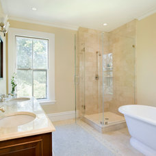 Traditional Bathroom by Landmark Services Inc