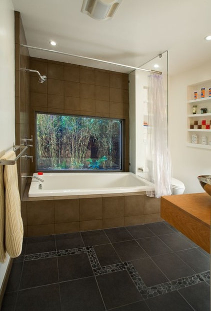contemporary bathroom by BMF CONSTRUCTION