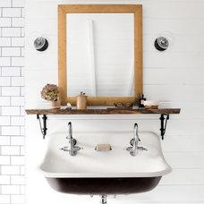 Farmhouse Bathroom by Bergantz Construction