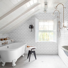 Farmhouse Bathroom by Bergantz Construction