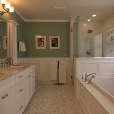 Traditional Bathroom by MkM Architecture Inc